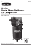 Single Stage Stationary Air Compressor