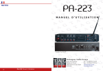 PA-223 - TAG - Techniques Audio Groupe