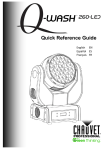 Q-Wash 260 LED Quick Reference Guide, Rev. 8, Multi