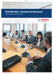 CCS 900 Ultro - Système de discussion Brochure technique