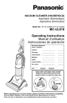 MC-UL810 Operating Instructions Manuel d`utilisation Instrucciones