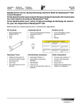 Disable Kit for the UL Spring Discharge Interlock Shaft for