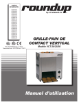 grille-pain de contact vertical
