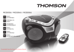 Thomson RCD203U User Guide Manual