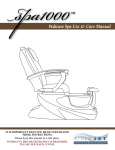 Pedicure Spa Use & Care Manual