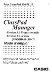 ClassPad Manager Version 3.0_Fre - Support