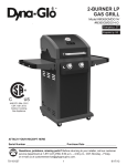 2-BURNER LP GAS GRILL