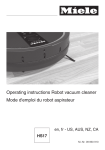 Operating instructions Robot vacuum cleaner Mode d`emploi du
