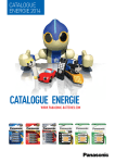 CATALOGUE ENERGIE - Panasonic Batteries