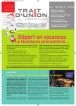 Trait d`union n°113, juillet 2014