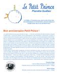 Communiqué de Presse Le Petit Prince Planète