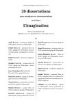 Pages d`introduction - 20 dissertations l`imagination