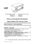 INSTALLATION INSTRUCTION MANUAL --