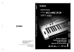 PSR-E403 YPT-400 Owner`s Manual