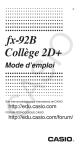 fx-92B College 2D+ Users Guide_Fr