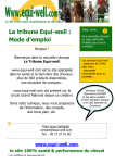 La tribune Equi-well : Mode d׳emploi