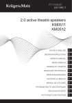 2.0 active theatre speakers KM0511 KM0512