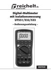 Digital-Multimeter mit Isolationsmessung UT531/532/533