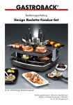 Design Raclette-Fondue-Set