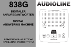 digitaler anrufbeantworter digital answering machine