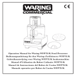 Operation Manual for Waring WFP7E/K Food Processor