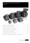 Low voltage motors for hazardous areas Manual