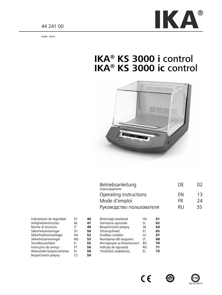 Ika Ks 3000 I Control Ika Ks 3000 Ic Control