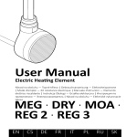 User Manual MEG · DRY · MOA · REG 2 · REG 3