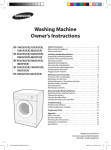 Samsung Triumph Washer with Slime Space Saving, 7 kg, White User Manual