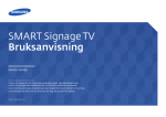 "Samsung 40"" SMART Signage TV for small-medium sized businesses Bruksanvisning"