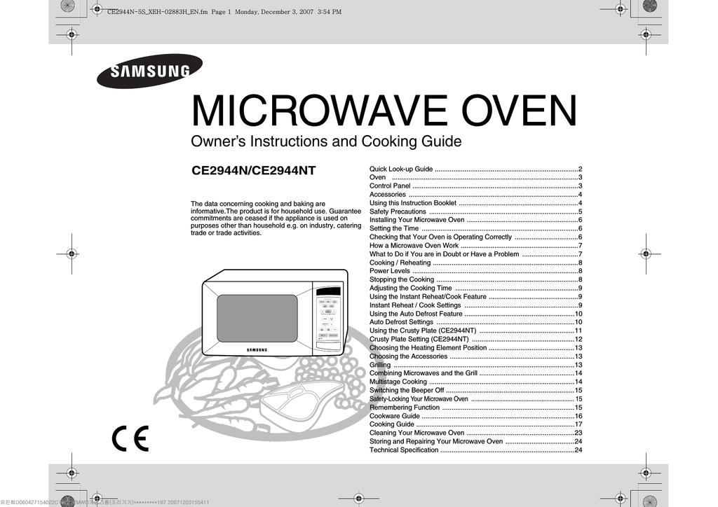 Samsung CE2944N Priručnik za korisnike