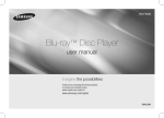 Samsung Blu-ray Player F5500 User Manual