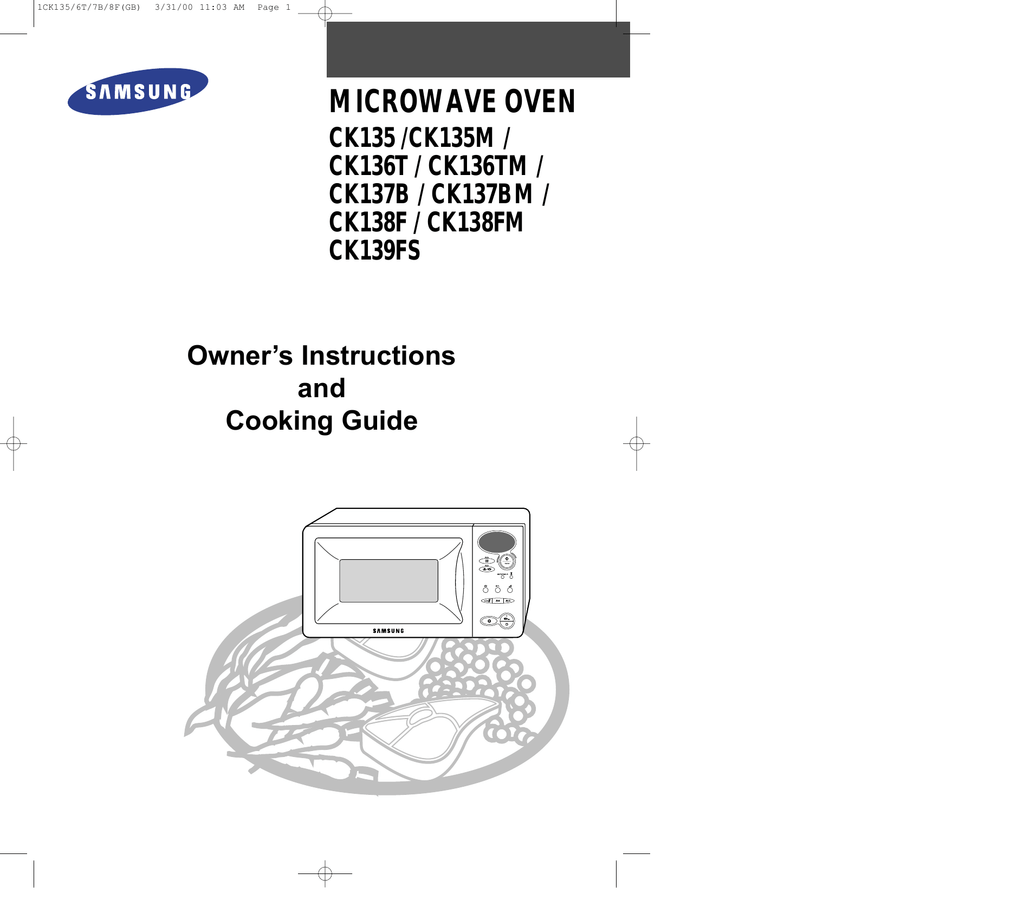 Samsung CK138F User Manual