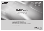 Samsung DVD-E350 User Manual
