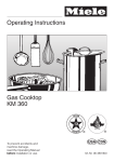 Operating Instructions Gas Cooktop KM 360