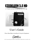 Ezee Kleen 2.5 HD User's Manual Rev Jan 2012