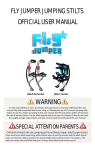 FLY JUMPER JUMPING STILTS OFFICIAL USER MANUAL WARNING