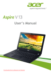 Acer Aspire V3-371 User Guide Manual