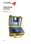 Portable Decoder User Manual