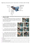 Operating Instructions and Illustrations for Abrasive Belt Grinder
