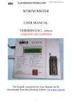 WTRFM WRITER USER MANUAL VERSION 0.0.1. (2006/4)