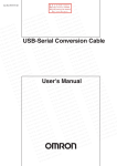 USB-Serial Conversion Cable User's Manual