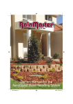 Owners Manual for the Rainmaster Water Recycling System