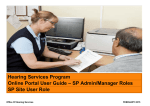 Hearing Services Program Online Portal User Guide – SP Admin