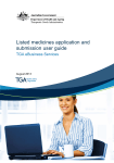 Listed medicines applications and submissions user guide AUG