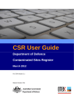 User Guide - Department of Defence