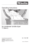 Operating instructions for condenser tumble dryer T 7944 C