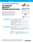 VHQ DIAGNOSTICS OPTIMIZED REMOTE TROUBLESHOOTING