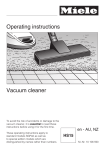 Operating instructions Vacuum cleaner
