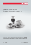 Operating instructions Freestanding coffee machine